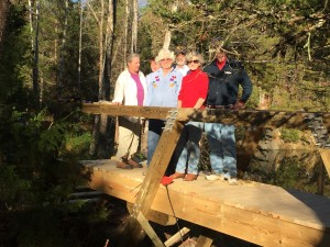 Garden Club group on almost-completed Bridge #2