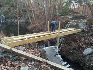 Bridge #1 in place